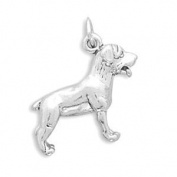 Dog Breed - Rottweiler Charm Sterling Silver, Made in the USA