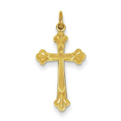 Sterling Silver With 18K Plating Cross Charm - JewelryWeb