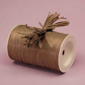 Brown Raffia Ribbon, 0.6cm X 100 Yards
