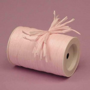 Light Pink Matte Raffia Ribbon, 0.6cm X 100 Yards