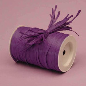 Purple Matte Raffia Ribbon, 0.6cm X 100 Yards