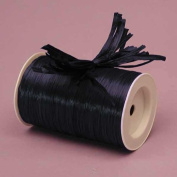 Navy Matte Raffia Ribbon, 0.6cm X 100 Yards