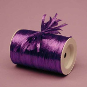 Purple Metallic Raffia Ribbon, 0.6cm X 100 Yards