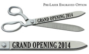 "Pre-Laser Engraved ""GRAND OPENING 5120cm 38cm Chrome Plated Ceremonial Ribbon Cutting Scissors"