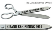 "Pre-Laser Engraved ""GRAND RE-OPENING 5120cm 38cm Chrome Plated Ceremonial Ribbon Cutting Scissors"