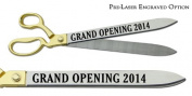 "Pre-Laser Engraved ""GRAND OPENING 5120cm 50cm Gold Plated Handles Ceremonial Ribbon Cutting Scissors"