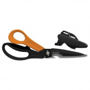 Wholesale CASE of 10 - Fiskars Multipurpose Scissors -Multipurpose Scissors, 23cm L, Black/Orange