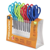 Wholesale CASE of 10 - Fiskars Pointed Tip Class Pack Scissors-Scissors Class Pack, Pointed Tip, 12/PK, 13cm Full, Assorted