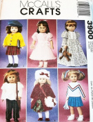 Mccalls Crafts 46cm American Girl Doll Size Clothes Pattern 3900