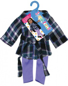 Fibre Craft Springfield Collection Tunic and Leggings for Doll, Lavender/Teal/White