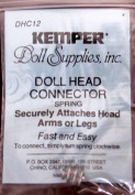 "Kemper Craft ""DHC 12"" DOLL HEAD CONNECTOR SPRING Size 20 MM (13/16"" Long) Attaches DOLL'S HEAD. ARMS or LEGS Fast & Easy"