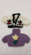 Teddy Bear/doll Sweater Clothes Outfits Small Size - 2 Pieces Set