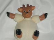 Mini Reindeer Resin/Muslin Craft Doll, 10cm x 7.6cm