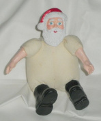 Mini Santa Claus Resin/Muslin Craft Doll, 10cm x 7.6cm