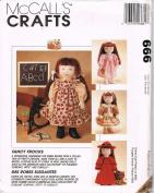 McCalls Crafts 666 Emma Doll Clothes
