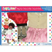 Fibre Craft Springfield Collection Party Time Doll Clothes Set