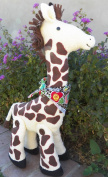 Cloth Giraffe Stuffed Toy Pattern with Instruction CD/174/Made from Faux Giraffe Fabric or Terry Cloth / Button Joined Legs