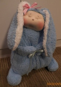 Cloth Pillow doll-Slumber Bunny Pattern with Instruction CD/181/Made from Windsor Cloth & Plush Minkey / Soft Sculpted Face