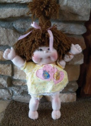 Cloth Soft Sculpture Toddler Doll & Dress Pattern with Instruction CD/010/Dinky Kid 36cm - Make Craft Velour Fabric