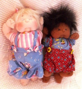 Cloth Soft Sculpture Baby Doll Pattern with Instruction CD/113/Jamie Babies 23cm -Makes Boy & Girl Dolls w/clothes from Craft Velour Fabric