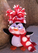 Cloth Holiday Penguin Doll Pattern with Instruction CD/285/Peppermint the Penguin-19cm -Made from Craft Velour by Dinky Baby