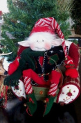 Cloth Holiday Elf Doll Pattern with Instruction CD/055/- Emmett the Elf 60cm -Makes a Christmas Elf From Craft Velour