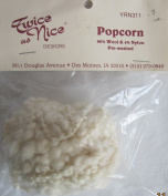 Twice as Nice Craft POPCORN DOLL HAIR .210ml 'EGGSHELL' Colour PRE-WASHED 96% Wool & 4% Nylon