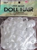 Wang's Craft LARGE RINGLET DOLL & ANIMAL HAIR Pack 30ml WHITE Colour