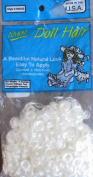 Maxi Craft DOLL HAIR Natural Look 40ml Pack PLATINUM WHITE Colour