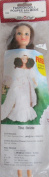Fibre Craft FASHION DOLL 28cm Tall w Combable BROWN HAIR, Panties, Pair of Shoes & 'The BRIDE' CROCHET PATTERN