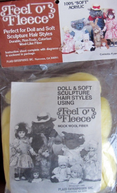"Plaid FEEL O' FLEECE DOLL HAIR 4 YARDS Pack YELLOW BLONDE Colour WOOL-Like ""Soft"" ACRYLIC Fibre ""Mock WOOL"""