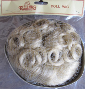 Tallina's Craft DOLL HAIR WIG Style WTA2 Fits SIZE 30cm Colour LT. BLONDE (Curly Hair on Crown w Tendrils at back)