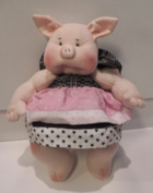 Cloth Pig Doll Kit w/Apron/123/ Instruction CD-Make From Craft Velour/String Joined Arms & Legs