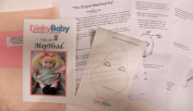 Soft Sculpture Toddler Doll Pattern Kit-Written Instructions on Paper - Vicki's MopHead 36cm - Make a Girl Doll from Craft Velour