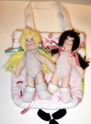 Beginners Doll Pattern Kit with Instruction CD/224/Simply Sisters 23cm - Makes 2 Dolls with Quilted Carry Tote & Craft Velour Babies