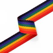 Rainbow polypropylene webbing, 2.5cm by 1 Yard, JUL-140123