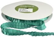 May Arts 1.6cm Wide Ribbon, Teal Satin Pleats