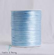 Light Blue 2mm x 100 yards Rattail Satin Nylon Trim Cord Chinese Knot