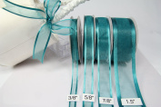 Amorecreations - Teal Organza Ribbon with Satin Edge-25 Yards X 1cm