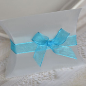 Self Adhesive Organza Bow and Ribbon - Turqoise