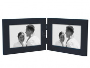 4x6 Double Horiz. Picture Frame LINEAR - Blue Wood - Picture Frame