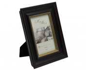 Megashopping Dimensional Rustic Black Wood 10cm By 15cm Picture Frames.