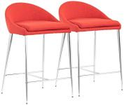 Zuo Reykjavik Tangerine Counter Chair