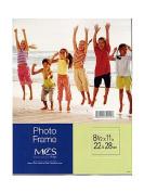 MCS Clear Acrylic Frames 22cm . x 28cm . single vertical [PACK OF 3 ]