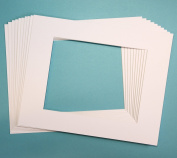 Pack of 10 WHITE 16x20 Picture Mats Matting with White Core Bevel Cut for 11x14 Pictures