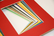 Pack of 50 MIXED colours 8x10 Picture Mats Mattes Matting for 5x7 Photo + Backing + Bags
