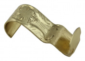 Light Duty Floral Polished Brass Picture Hook