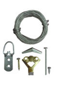 OOK 50932 17 Piece All Wall Picture Hanging Kit Supports Up to 50 Pounds