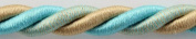 Antique Ivory and Turquoise Picture Hanging Cord, 1cm Diameter, 10 Ft. Length