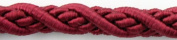 Burgundy Picture Hanging Cord, 1cm Diameter, 10 Ft. Length